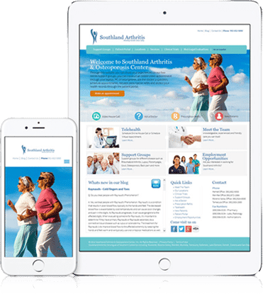 Exciting web design and development for Southland Arthritis