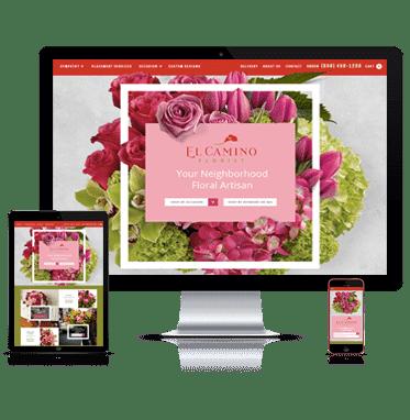 Elcamino florist partnered with Straightfire Marketing for a Custom Website Design