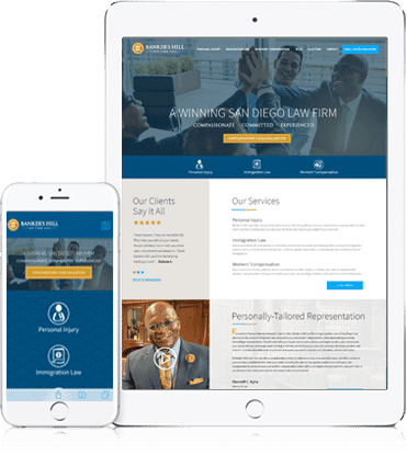 Banker's Hill Law Firm get started with Straightfiremarketing for logo re-branding and web design