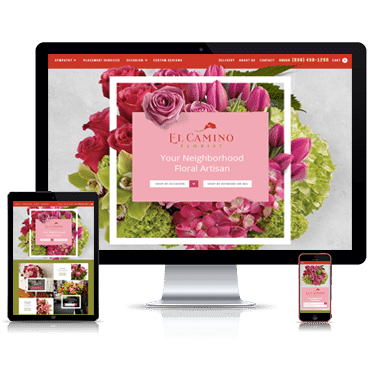 Elcamino florist partnered with Straightfire Marketing for a Custom Website Design